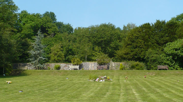 Muntham Court - View over grounds towards site of house (744)